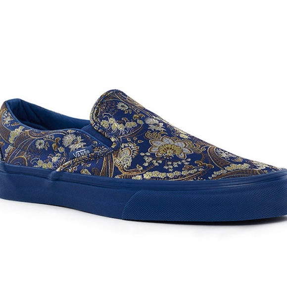 vans x opening ceremony slip-on in royal blue